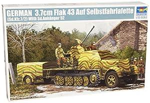 Trumpeter 1527 - Cañón autopropulsado alemán Flakvierling 43 (en vehículo SD.Kfz. 7/2)
