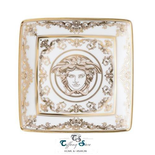 Versace, Schale, flach, viereckig, 12 cm Medusa Gala. Rosenthal Versace Medusa