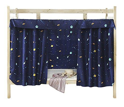 Tenda in tessuto per letto a castello per dormitorio, tenda oscurante per letto a baldacchino a prova di polvere e zanzare, dark blue, 1.5m x 2m ( 3 piece included )
