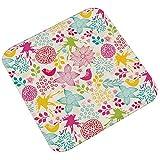 Epinki Flanell Teppich Retro Stil Muster Teppiche für Wohnzimmer Küche Bunt 45x45CM