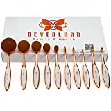 Neverland Beauty 10x Foundation Pinsel Puderpinsel Kosmetik Brush Grundierung Make Up Zahnburste Rose Gold