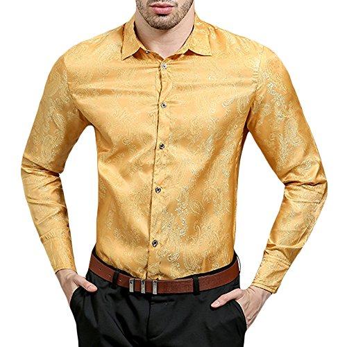 Gomy uomo camicie maniche lunghe lusso camicie vintage motivo floreale moda shirts