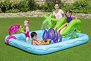 بركة سباحة مع مركز العاب و سحسيلة للاطفال، ازرق، 53052