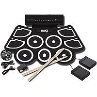 RockJam RJ760MD Portable MIDI Electronic Roll Up Drum Kit