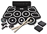 #1: RockJam RJ760MD Electronic Roll Up MIDI Drum Kit with Built-in Speakers (Black)