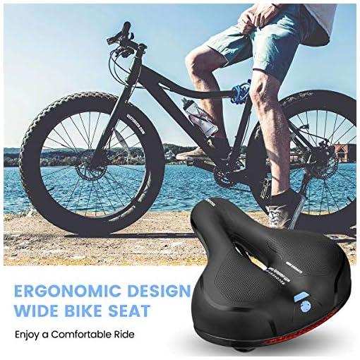 SGODDE Sella per Bicicletta, Sedile Bicicletta Ergonomica con Nastro Riflettente