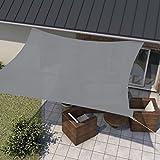 wip Sonnensegel grau 5x5m Quadrat HDPE 185g/m² Sonnenschutz Beschattung für Terrasse