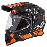 O'Neal Sierra II Comb Motocross Motorrad Helm MX Enduro Trail Quad Cross Offroad Gelände, 0817, Farbe Schwarz Orange, Größe L