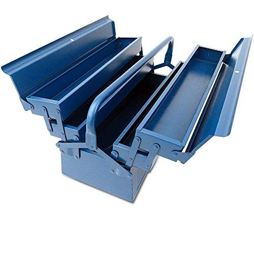 Werkzeugkasten, 5-tlg Werkzeugbox, 580x220x210mm, blau