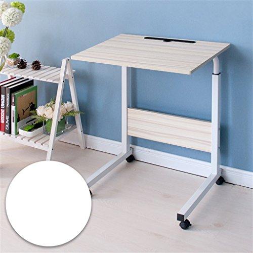 Klapptisch Cqq Computer-Schreibtisch kann es einfach bewegen Aufzug Laptop-Tisch Bett Schreibtisch Landnutzung Mobile faul Tisch Nachttisch Computertisch Wandtisch (Farbe : Weiß, größe : 40*60cm) (Moderne Mobile Computer-schreibtisch)