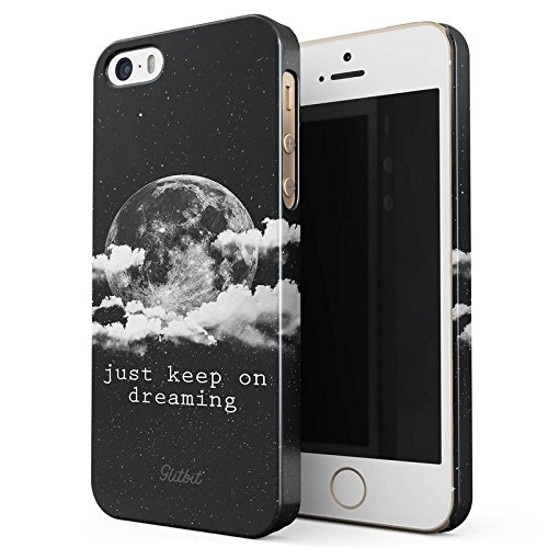 Glitbit Stay Weird Stay Different Landscape Motivational Inspirational Quote Love Life Dream Frasi Sottile Guscio Resistente In Plastica Dura Custodia Protettiva Per iPhone 5 / 5s / SE Case Cover Just Keep On Dreaming