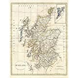 Wee Blue Coo LTD 1799 Clement Cruttwell Map Scotland
