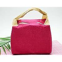 Preisvergleich für Yudanwin Leinwand-Lunch-Tasche Kreative Brief Square Kühltasche Lunch Bag (Rose)