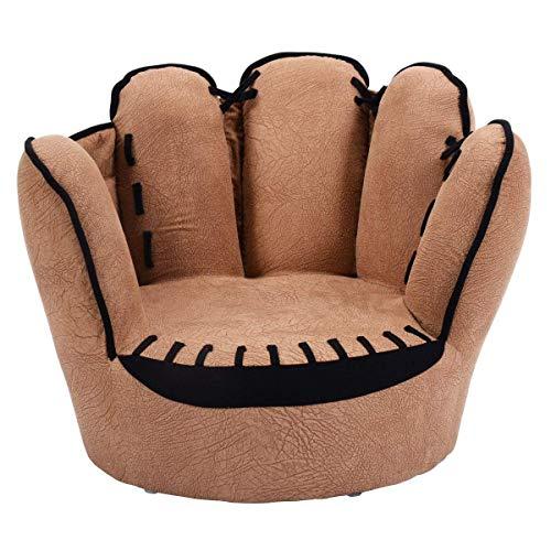 el, Sessel, Finger-Stil Gemütlich Wohnzimmer-Sitz Kindermöbel Für haltbarkeit Stetigen-braun 59x50x46cm(23x20x18inch) ()