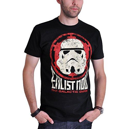 Star Wars T-Shirt Enlist the Empire von Elbenwald Baumwolle schwarz Schwarz