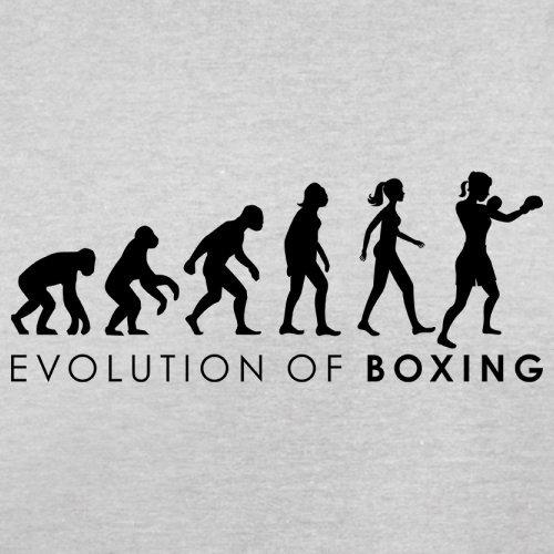 Evolution of Woman - Boxen - Herren T-Shirt - 13 Farben Hellgrau