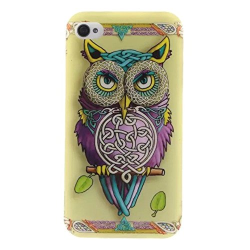 HUANGTAOLI Custodia in Silicone TPU Case Cover per Apple iPhone 4 4S 4G A08