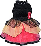 #10: Cute Fashion Kids Girls Baby Princess Velvet and Net Party Wear Frock Dresses Clothes for 12 - 18 Months