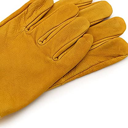 New Extra Large Beekeeping Gloves made with goatskin and thick vented cotton sleeves Bee Hive Farm Equipment 4