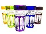 Cocktailglas, Longdrinkglas, handgemacht, Service 6 Gläser (35 cl), Roemer Kristallglas, Unterschrieben und gestempelt Klein 54120 Baccarat, Geschenkidee.