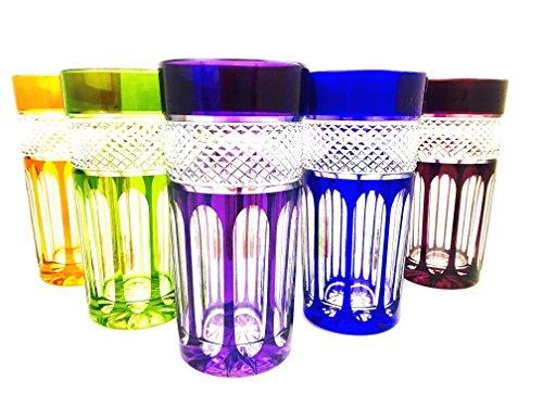 Cocktailglas, Longdrinkglas, handgemacht, Service 6 Gläser (35 cl), Roemer Kristallglas, Unterschrieben und gestempelt Klein 54120 Baccarat, Geschenkidee. -