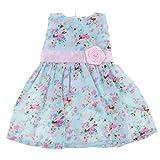 Gazechimp Vêtement de Poupée Robe Floral Multicolore Accessoires Pour 18'' American Girl Dolls Jouet Cadeau Enfant Fille