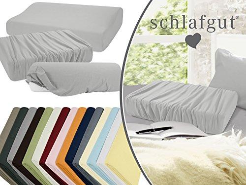 Spannbezug für Gesundheitskissen - Qualität von schlafgut - Jersey-Elasthan super elastisch gewebt aus 95% Baumwolle & 5% Elasthan - pillingarmer Stoff in 15 ausgesuchten Farben - erhältlich als Einheitsgröße, platin