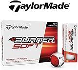 TaylorMade Burner Soft Golf Ball (Dozen) 2015 White & Yellow (White)