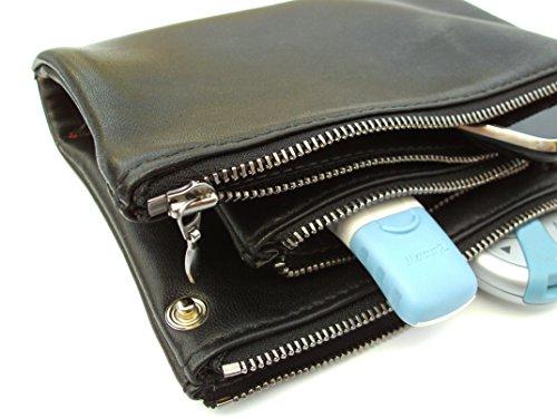 diabag Diabetiker-Etui Pouch Leder-Tasche, Schwarz, 104