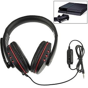 SM-PC® 5in1 Stereo Mikrofon Gaming Headset Headphone Mic Kopfhörer für PS3/PS4 #069