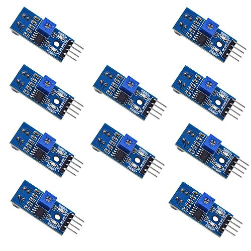 Zkee Shop 10 Pcs TCRT5000 Infrared Reflective Photoelectric Switch IR Barrier Line Track Sensor -