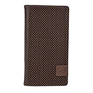 J Cover Big Bang Series Leather Pouch Flip Case For LG G5 Dark Brown Orange