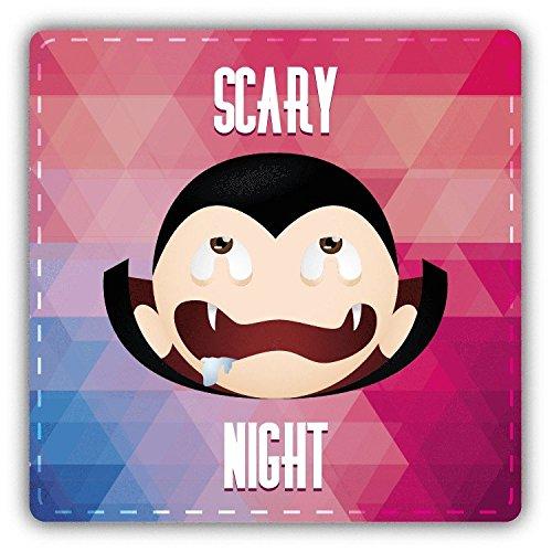 (Dracula Smile Scary Night Halloween Slogan Hochwertigen Auto-Autoaufkleber 12 x 12 cm)