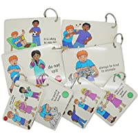 BSL for Kids Social Rules Cards Teaching Card Pack - small - (Autism / SEN / AAC / ASD) Visual Aid Resource / Learning Supports