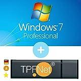 Microsoft® Windows 7 Pro 32 bit & 64 bit - Original Lizenzschlüssel mit bootfähigen USB Stick von - TPFNet®