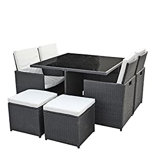 gartenm bel lounge set 4er sitzgruppe und essgruppe asviva dining lounge premium. Black Bedroom Furniture Sets. Home Design Ideas