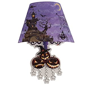 Carnival 04309-Lámpara led, diseño de Halloween adhesivo Zucchette, batería incluida, altura de 22 cm, en sobres con tubos de escape