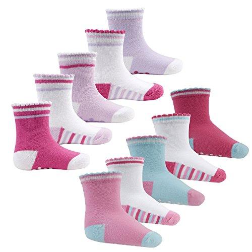 tick-tock-baby-girls-socks-10-pairs-heel-toe-scallop-edge-grippers-multi-pack-uk