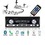 Radio de Voiture stéréo vidéo FM Radio,Lecteur MP3 de 4x60W poste radio voiture,Autoradio Bluetooth avec Télécommande + Adaptateur DIN ISO avec 2 Petits Câbles + 1 Grand Câble