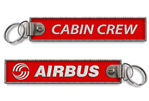 airbus-cabine-equipage-porte-cles-rouge