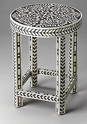 Side Table in Black Bone Inlay by Butler Specialty