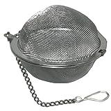 Eurohome 590476 Edelstahl Gewürzkugel 65mm mit Kette für Suppen Glühwein Früchtetee
