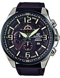 Casio Edifice – Herren-Armbanduhr mit Analog-Display und Echtlederarmband – EFR-555BL-5AVUEF