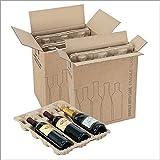 Propac Z-BOX342340A Scatola Portabottiglie, 34 x 23 x 40 cm, Set di 10