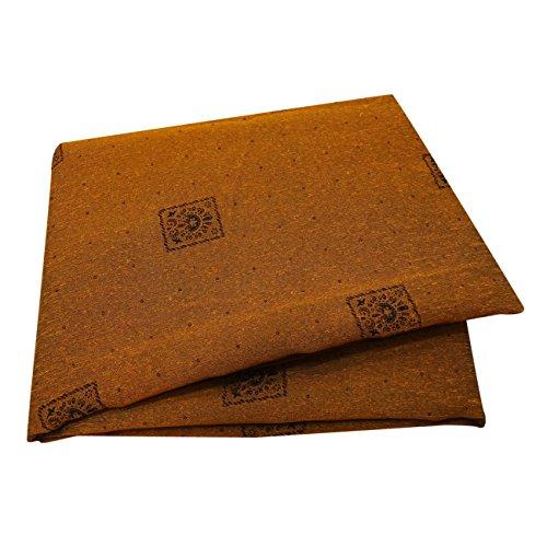 PEEGLI Jahrgang Gedruckt Saree Gelb Seidenmischung DIY Recycling Vorhang Drapieren Sari (Vorhang Sari Drapieren)