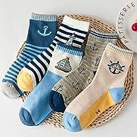 Wzbb Calcetines Calcetines De Los Niños De Algodón Primavera Niñas Calcetines Calcetines De Encaje Calcetines del Bebé del Estudiante 3-5-7-9 Años De Edad