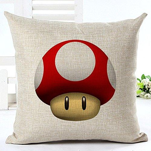 (MAYUAN520 Zierkissen Top Finel Super Mario Brothers Dekorative Werfen Quadratische Kissen Bettwäsche Baumwolle Kreative Dekoration Nr. 63 Kissen Kissenhülle, 45 X 45 cm, 1.)