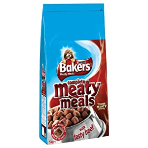 Bakers Complete Meaty Meals with Tasty Beef 5 kg, Pack of 2