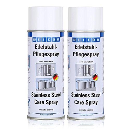 Weicon Edelstahl-Pflegespray 400ml - wirkt antistatisch - 11590400 (2er Pack)
