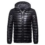 KPPONG Herren 2018 Winter Winddicht Warm Fashion Casual Langärmelige Einfarbig Gefälschte Zwei Lange Zipper Hoodie Baumwolle Jacke Baumwollmantel